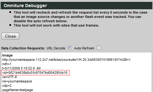 Omniture Debugger - First party cookie